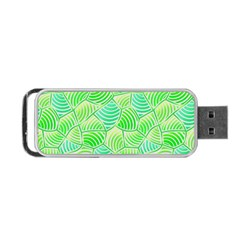 Green Glowing Portable USB Flash (Two Sides)