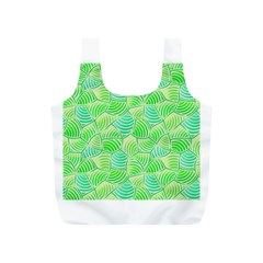 Green Glowing Full Print Recycle Bags (S)