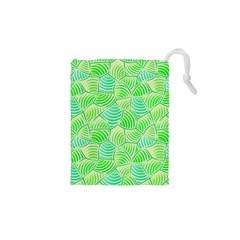 Green Glowing Drawstring Pouches (XS)