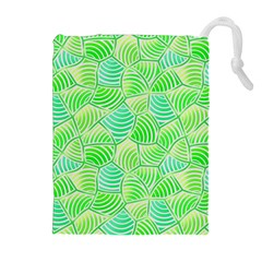 Green Glowing Drawstring Pouches (Extra Large)