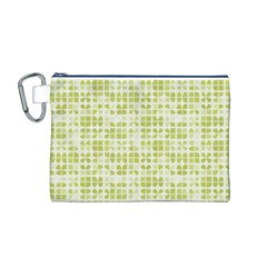 Pastel Green Canvas Cosmetic Bag (M)