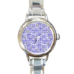 Pastel Purple Round Italian Charm Watch