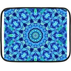 Blue Sea Jewel Mandala Fleece Blanket (mini)
