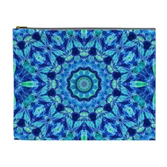 Blue Sea Jewel Mandala Cosmetic Bag (XL)