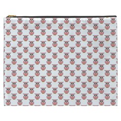 Small Pink Owls Cosmetic Bag (XXXL)
