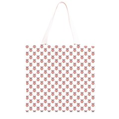 Small Pink Owls Grocery Light Tote Bag