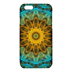 Blue yellow Ocean Star flower mandala iPhone 6/6S TPU Case