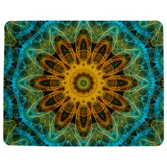 Blue yellow Ocean Star flower mandala Jigsaw Puzzle Photo Stand (Rectangular)