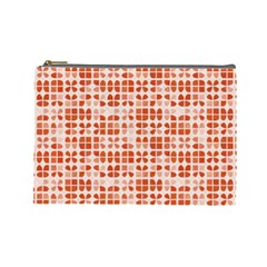 Pastel Red Cosmetic Bag (Large)