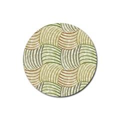 Pastel Sketch Rubber Coaster (Round)
