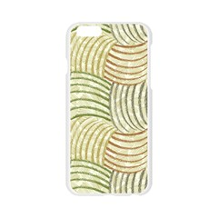 Pastel Sketch Apple Seamless iPhone 6/6S Case (Transparent)