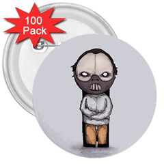 Dr. Lecter 3  Buttons (100 pack)