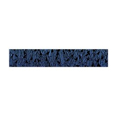 Blue Ombre Feather Pattern, Black,  Flano Scarf (Mini)