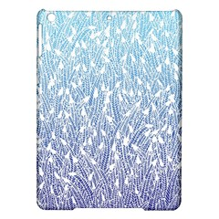 Blue Ombre feather pattern, white, Apple iPad Air Hardshell Case