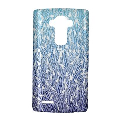Blue Ombre feather pattern, white, LG G4 Hardshell Case
