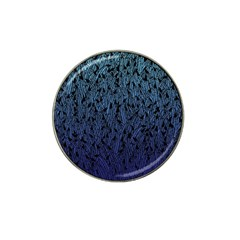 Blue Ombre feather pattern, black, Hat Clip Ball Marker