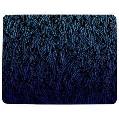 Blue Ombre Feather Pattern, Black, Jigsaw Puzzle Photo Stand (rectangular)