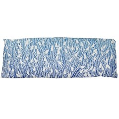 Blue Ombre Feather Pattern, White, Body Pillow Case Dakimakura (two Sides)