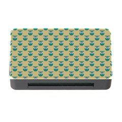 Small Teal Owls On Ecru Memory Card Reader with CF