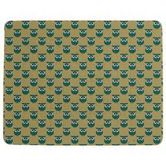 Small Teal Owls On Ecru Jigsaw Puzzle Photo Stand (Rectangular)