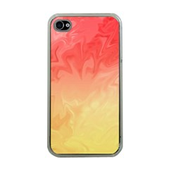 Ombre Orange Yellow Apple iPhone 4 Case (Clear)