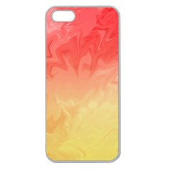 Ombre Orange Yellow Apple Seamless iPhone 5 Case (Clear)