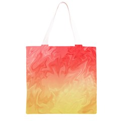 Ombre Orange Yellow Grocery Light Tote Bag