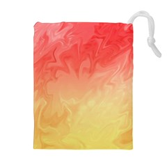 Ombre Orange Yellow Drawstring Pouches (Extra Large)
