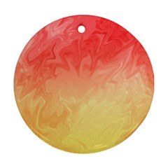 Ombre Orange Yellow Ornament (Round)
