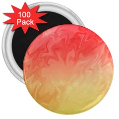 Ombre Orange Yellow 3  Magnets (100 pack)
