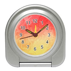 Ombre Orange Yellow Travel Alarm Clocks