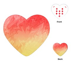 Ombre Orange Yellow Playing Cards (heart)