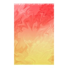 Ombre Orange Yellow Shower Curtain 48  x 72  (Small)