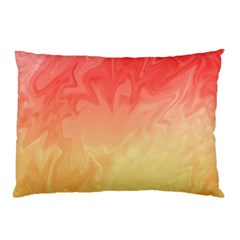 Ombre Orange Yellow Pillow Case (Two Sides)