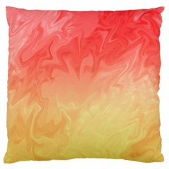Ombre Orange Yellow Large Flano Cushion Case (Two Sides)