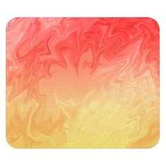 Ombre Orange Yellow Double Sided Flano Blanket (Small)