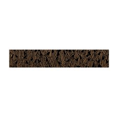 Brown Ombre Feather Pattern, Black,  Flano Scarf (Mini)