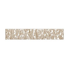 Brown Ombre Feather Pattern, White, Flano Scarf (Mini)
