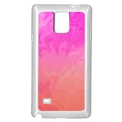 Ombre Pink Orange Samsung Galaxy Note 4 Case (White)
