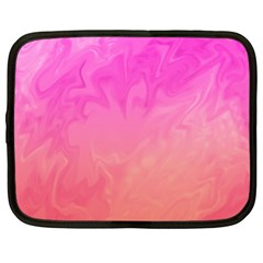 Ombre Pink Orange Netbook Case (XXL)