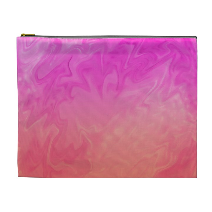 Ombre Pink Orange Cosmetic Bag (XL)
