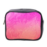 Ombre Pink Orange Mini Toiletries Bag 2-Side Front
