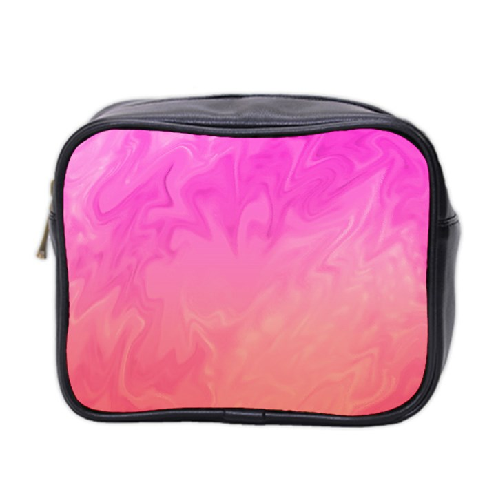 Ombre Pink Orange Mini Toiletries Bag 2-Side
