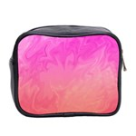 Ombre Pink Orange Mini Toiletries Bag 2-Side Back