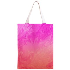 Ombre Pink Orange Classic Light Tote Bag