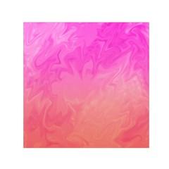 Ombre Pink Orange Small Satin Scarf (Square)