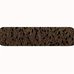 Brown Ombre Feather Pattern, Black, Large Bar Mat