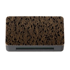 Brown Ombre feather pattern, black, Memory Card Reader with CF