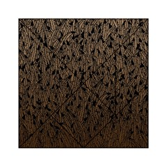 Brown Ombre feather pattern, black, Acrylic Tangram Puzzle (6  x 6 )