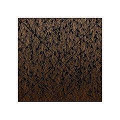 Brown Ombre feather pattern, black, Acrylic Tangram Puzzle (4  x 4 )